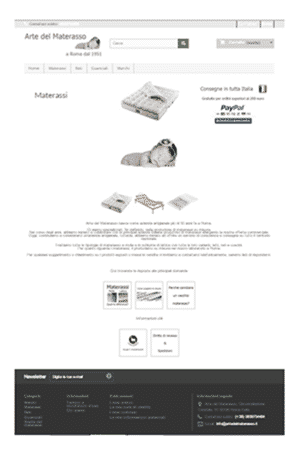 Anteprima E-Commerce artedelmaterasso.it