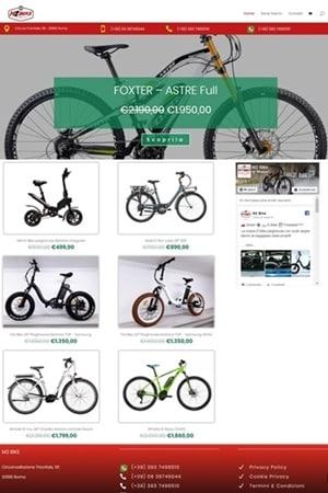 Anteprima Sito Web m2bike