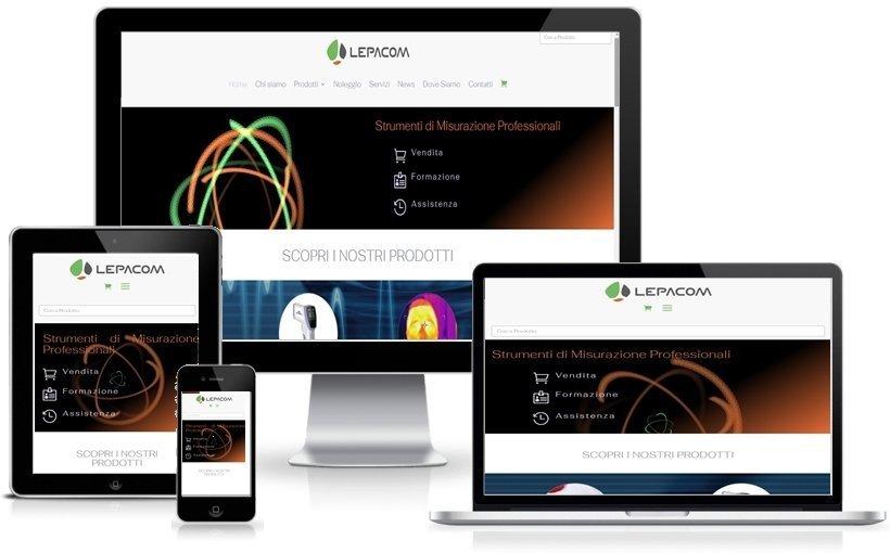 Anteprima Sito Web Responsive lepacom.com