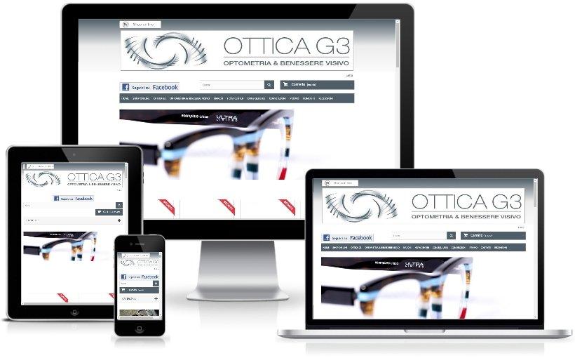 Anteprima Sito Web Responsive otticag3.it