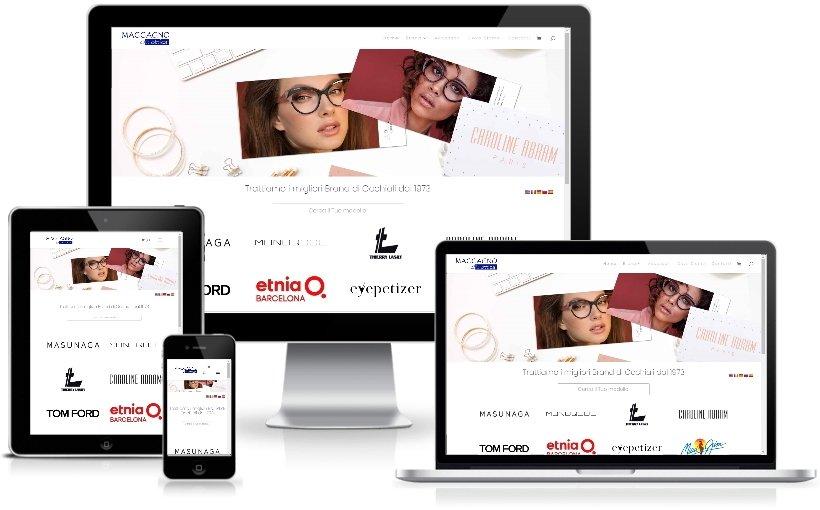Anteprima Sito Web Responsive otticamaccagno.com