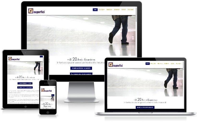 Anteprima Sito Web Responsive superfici.net